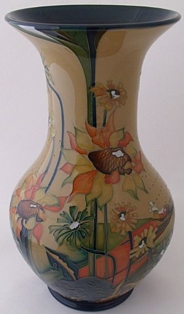 Moorcroft Pottery Wandboard Vase By Nicola Slaney Limited Edition